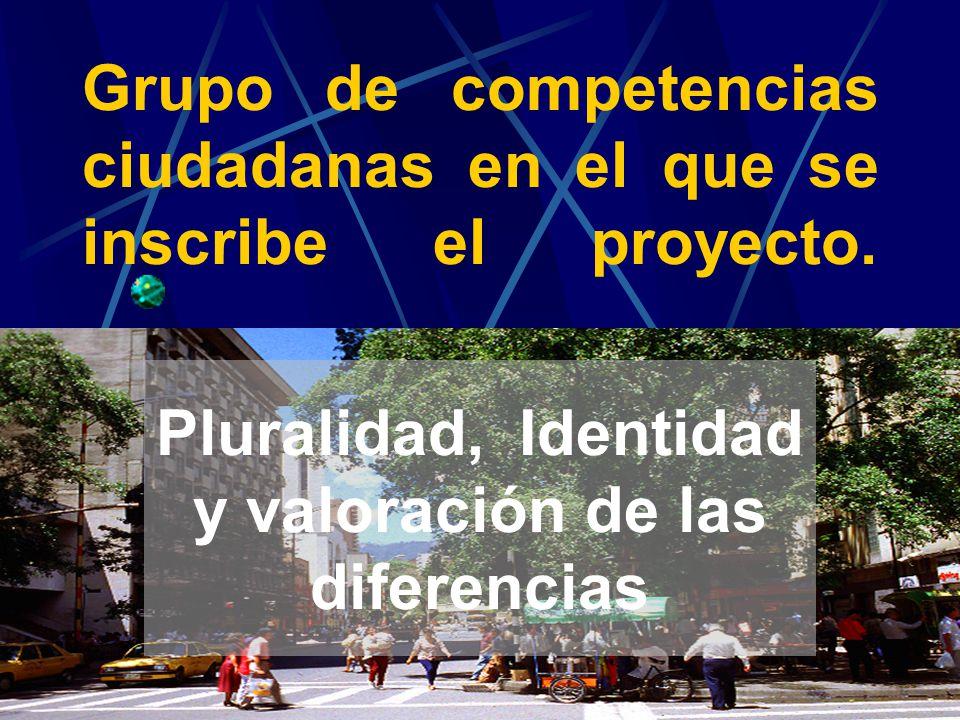 Grupo de competencias ciudadanas en el que se inscribe el proyecto.