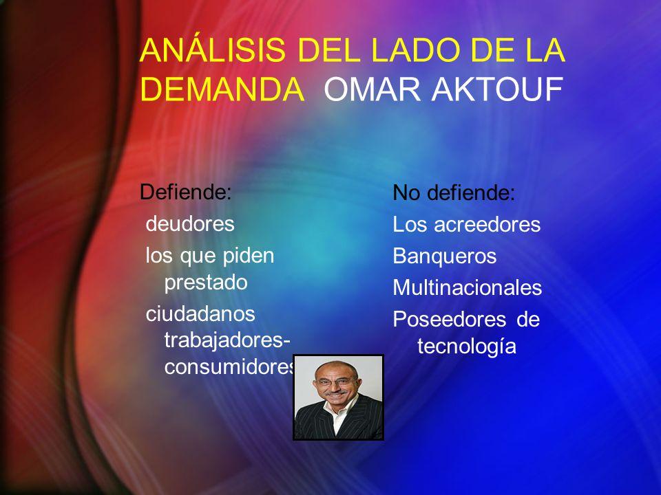 ANÁLISIS DEL LADO DE LA DEMANDA OMAR AKTOUF