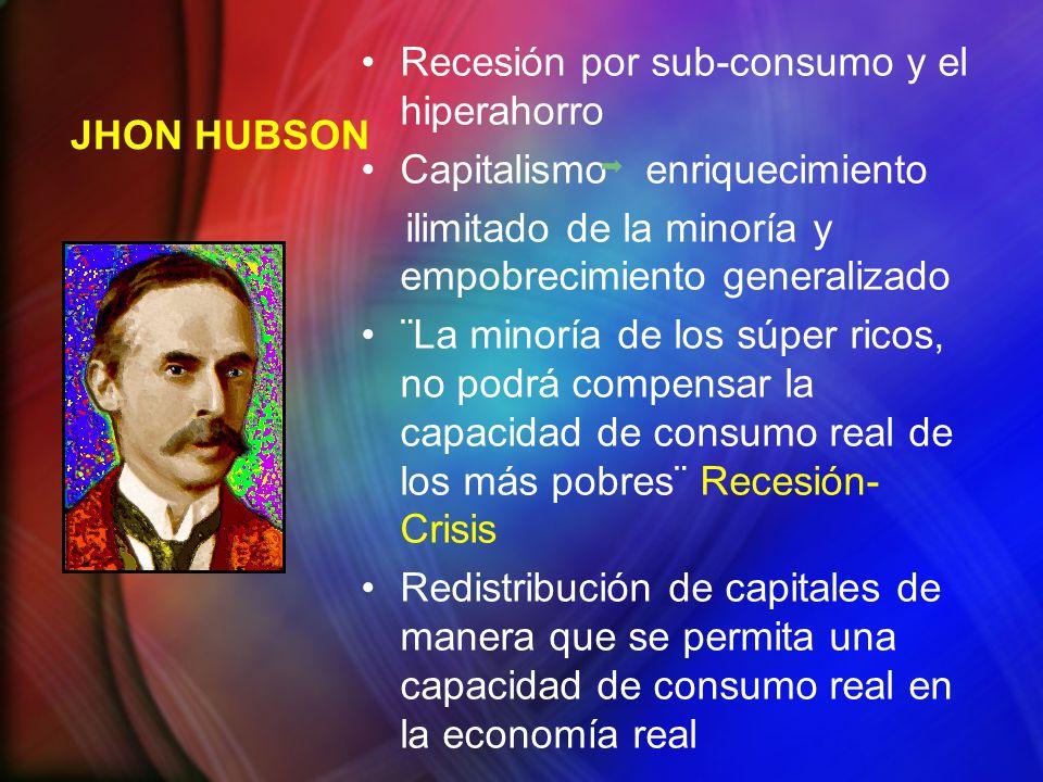 Recesión por sub-consumo y el hiperahorro Capitalismo enriquecimiento