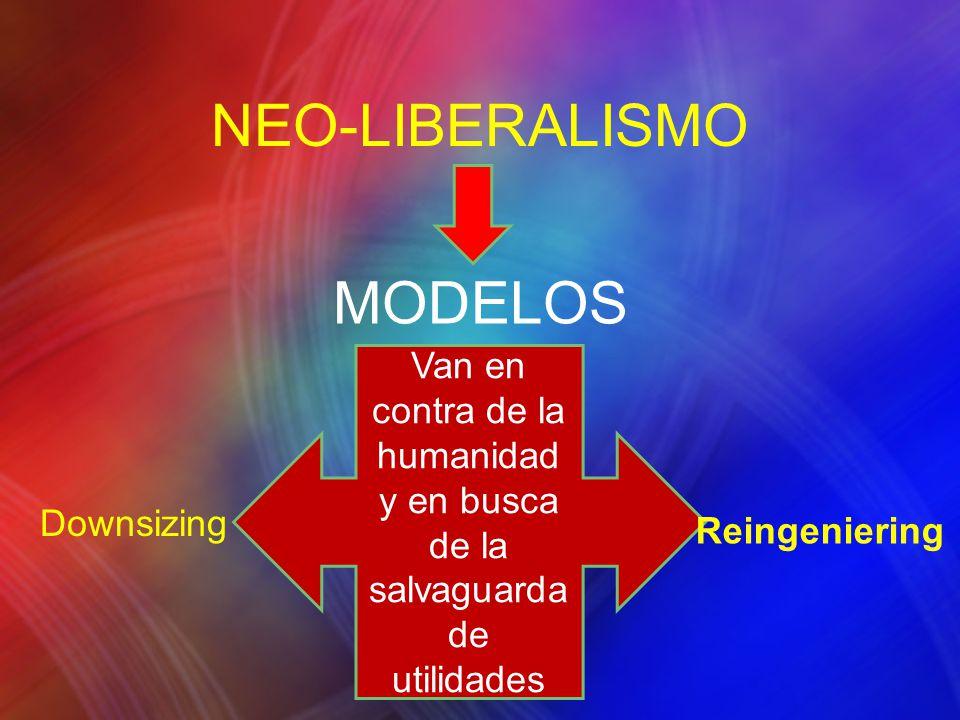 NEO-LIBERALISMO MODELOS