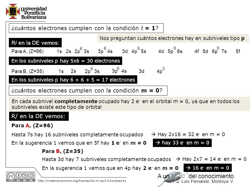¿cuántos electrones cumplen con la condición ℓ = 1