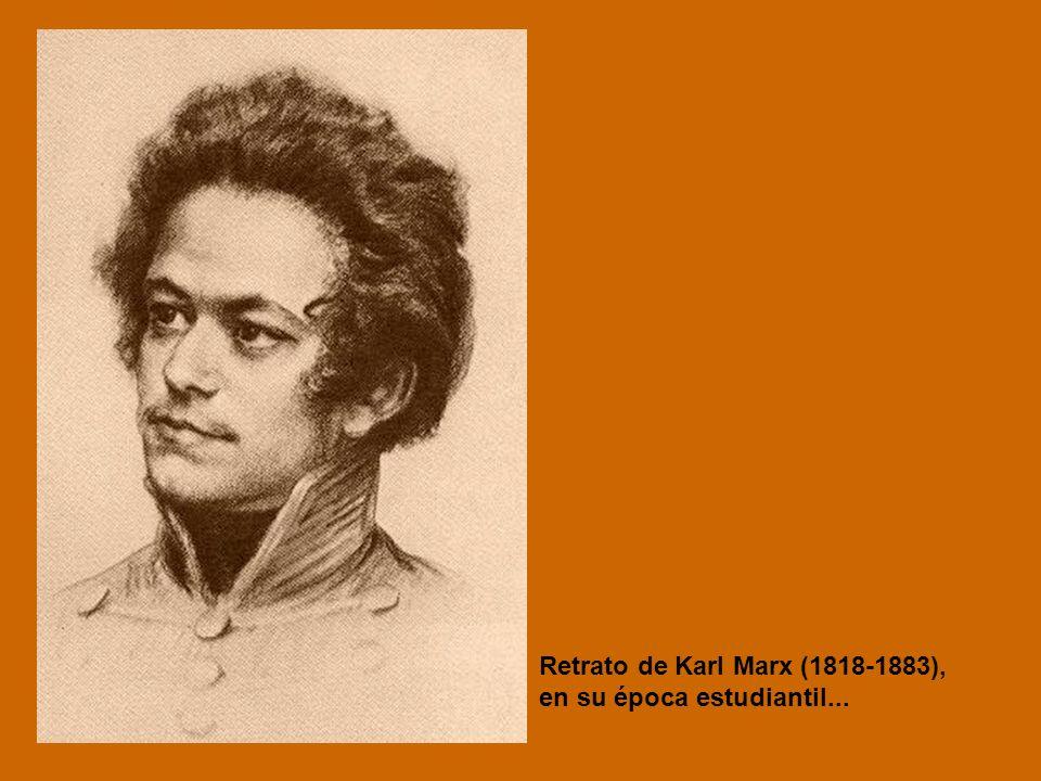 Retrato de Karl Marx (1818-1883),