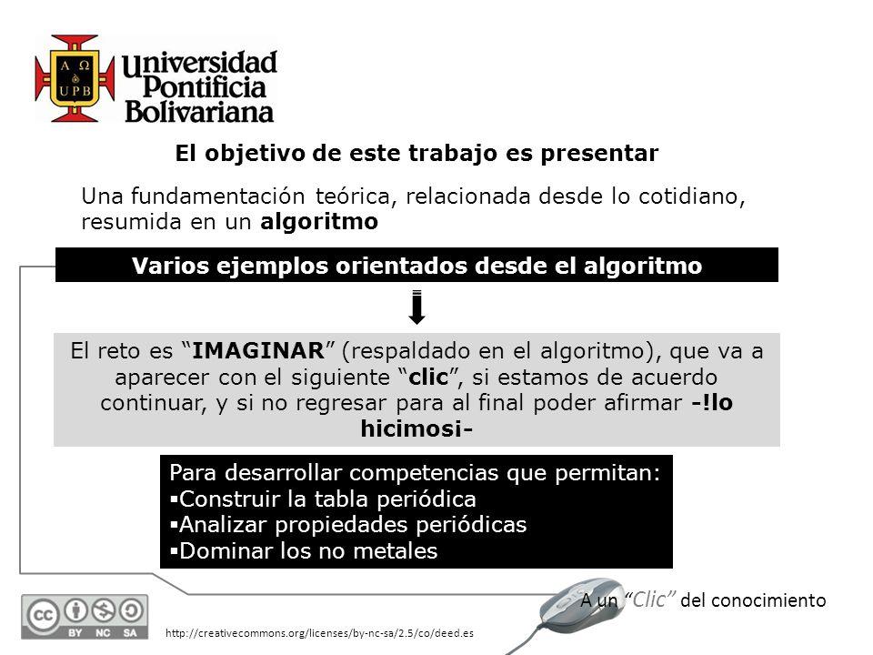 Varios ejemplos orientados desde el algoritmo