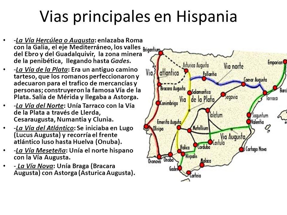 Vias principales en Hispania