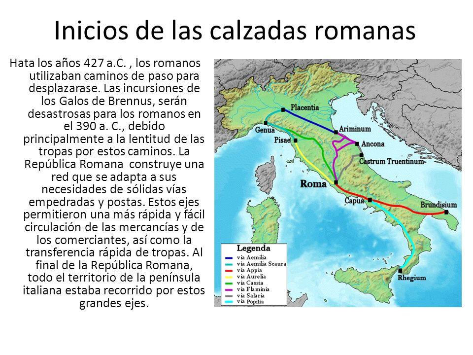 Inicios de las calzadas romanas