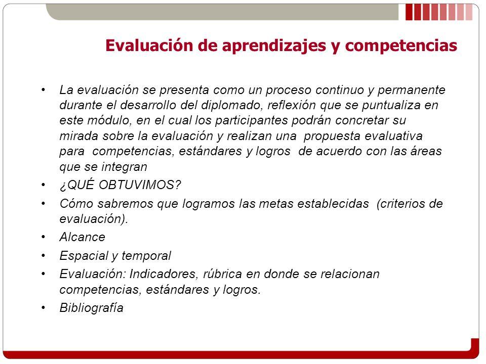 Evaluación de aprendizajes y competencias