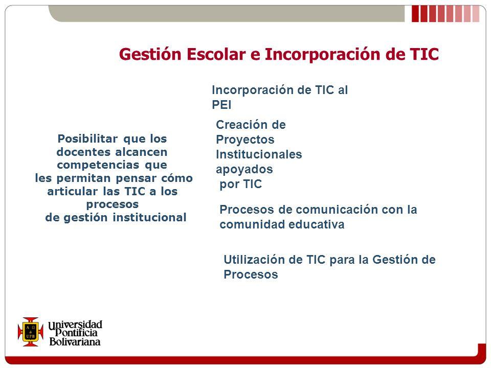 Gestión Escolar e Incorporación de TIC