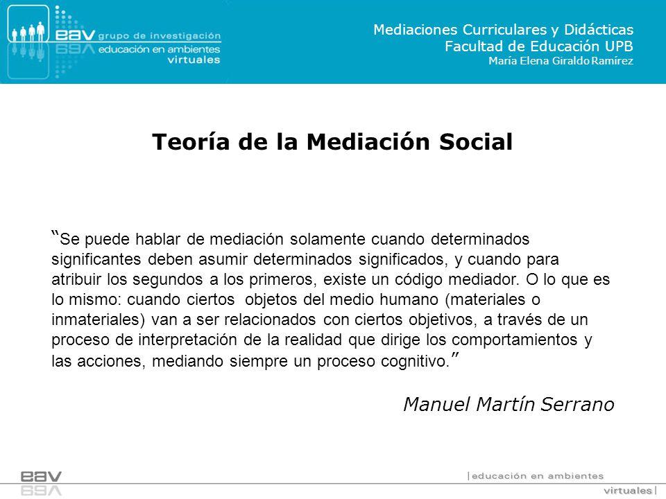 Teoría de la Mediación Social