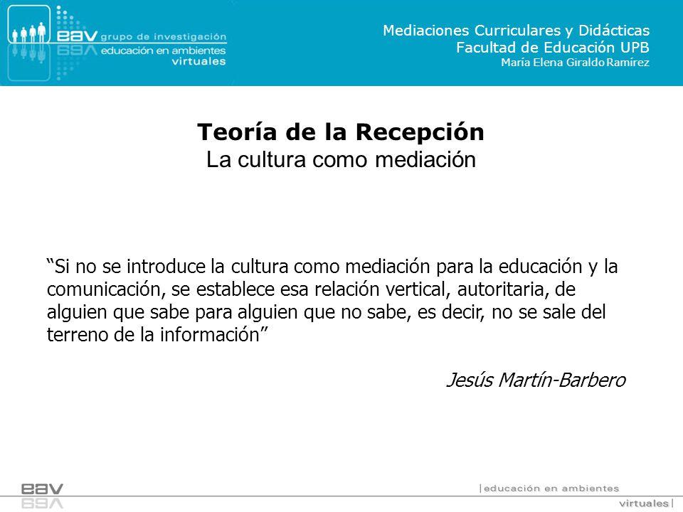 La cultura como mediación