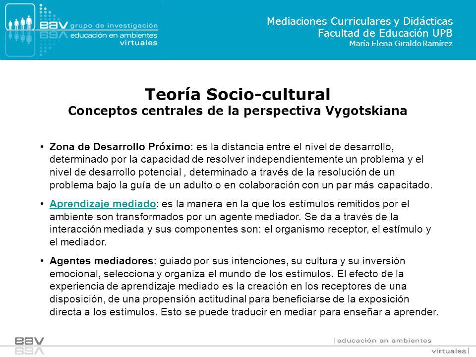 Teoría Socio-cultural