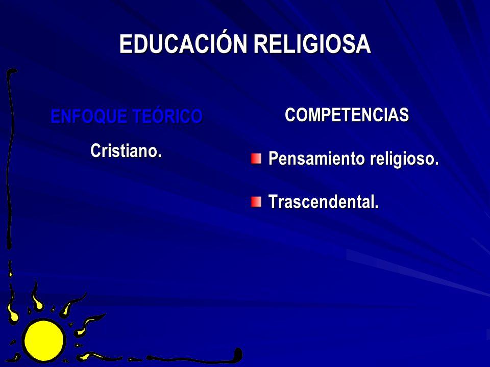 EDUCACIÓN RELIGIOSA COMPETENCIAS ENFOQUE TEÓRICO