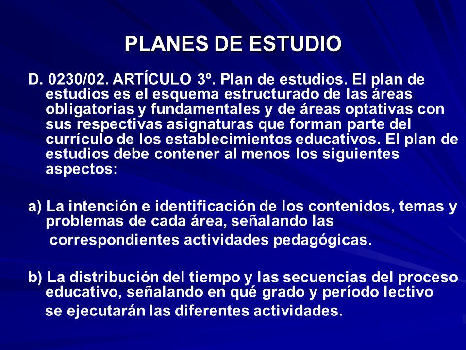 PLANES DE ESTUDIO