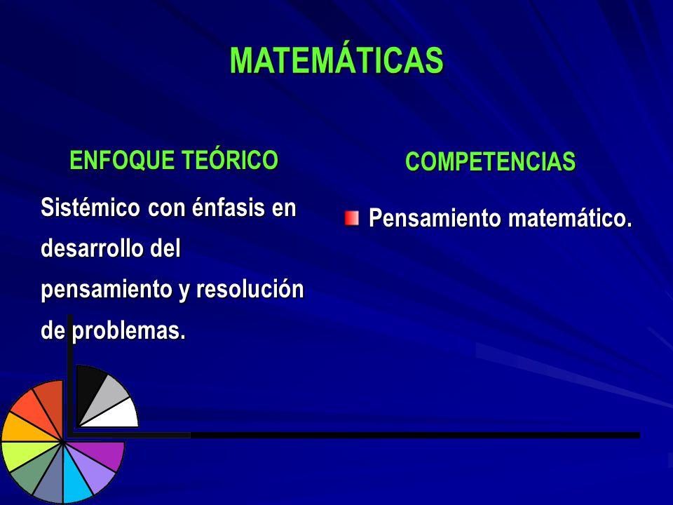 MATEMÁTICAS COMPETENCIAS ENFOQUE TEÓRICO