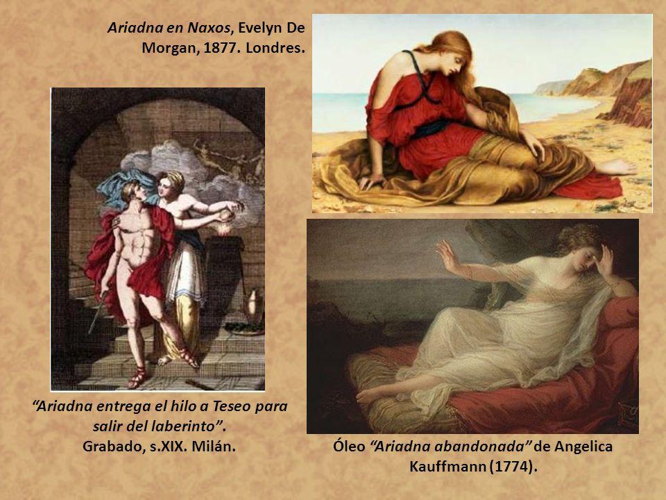 Ariadna en Naxos, Evelyn De Morgan, 1877. Londres.