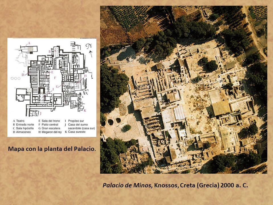 Mapa con la planta del Palacio.