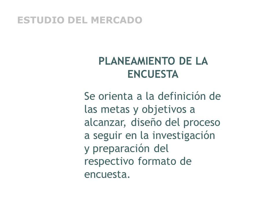 PLANEAMIENTO DE LA ENCUESTA