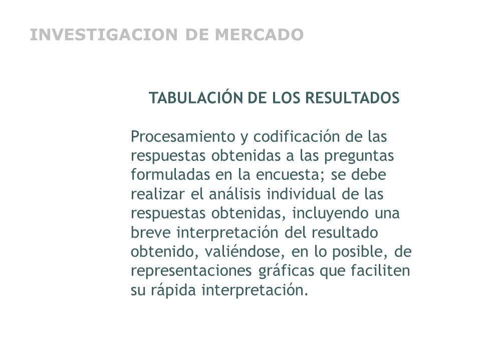 TABULACIÓN DE LOS RESULTADOS