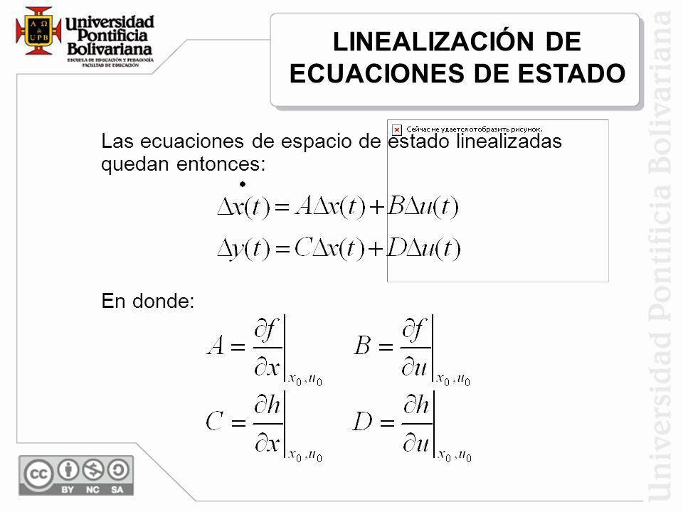 LINEALIZACIÓN DE ECUACIONES DE ESTADO