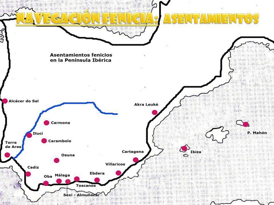 Navegación fenicia: ASentamientos