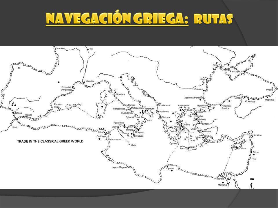 Navegación griega: rutas