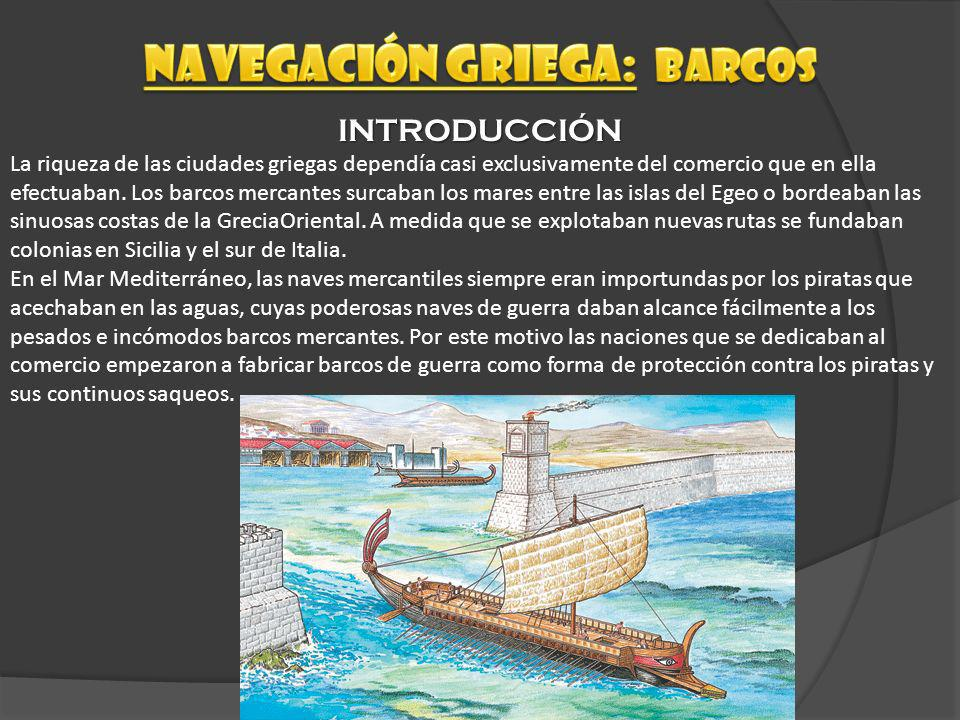 Navegación griega: barcos