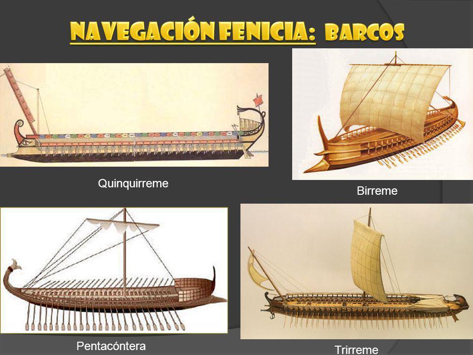 Navegación fenicia: Barcos