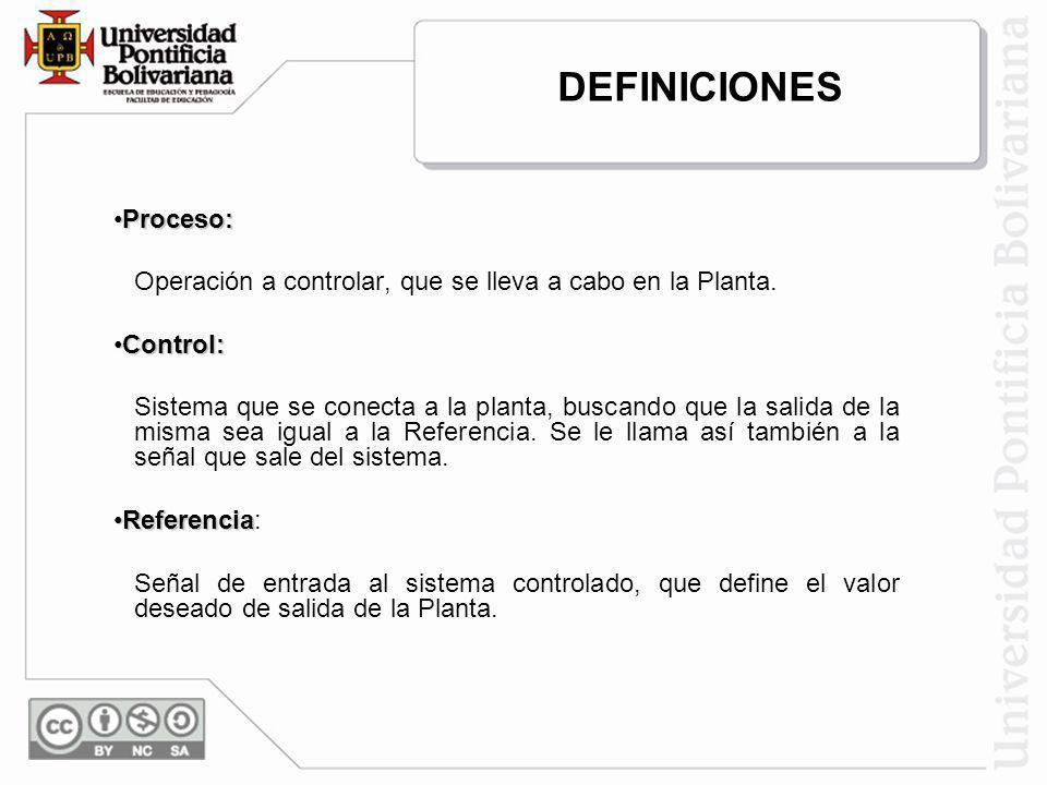 DEFINICIONES Proceso: