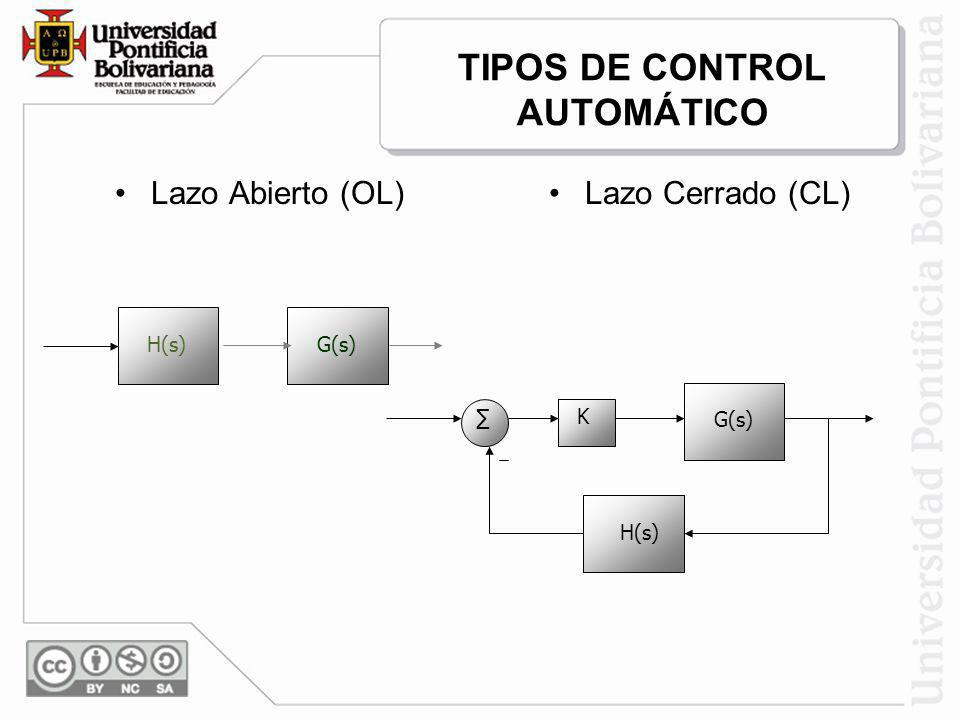 TIPOS DE CONTROL AUTOMÁTICO
