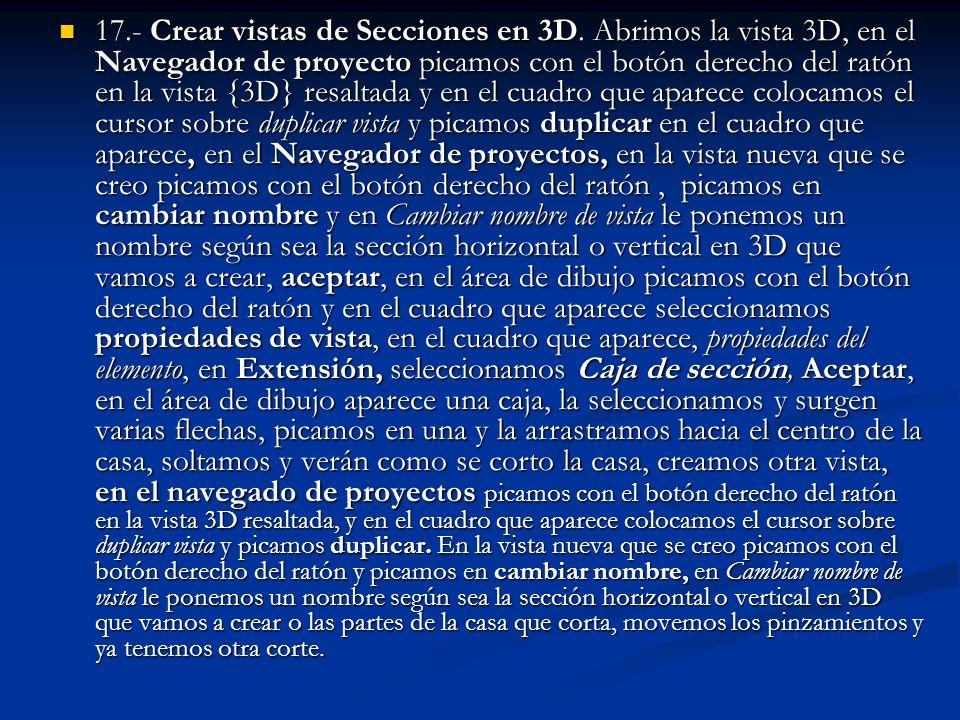 17. - Crear vistas de Secciones en 3D