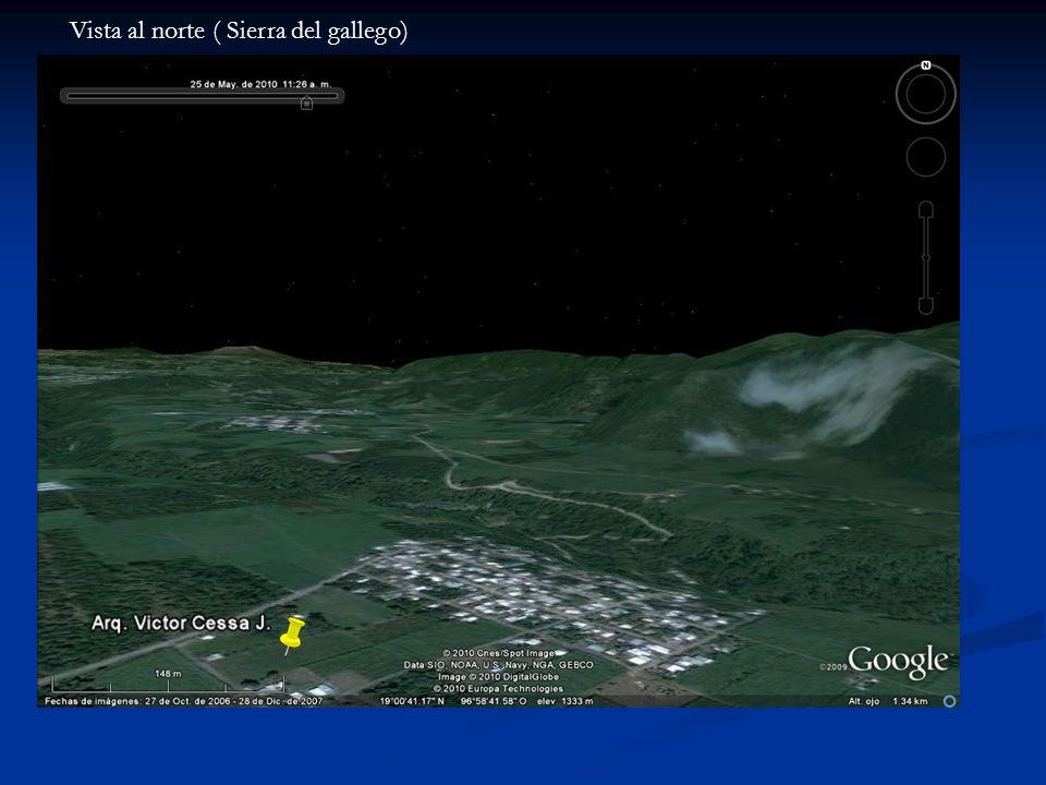 Vista al norte ( Sierra del gallego)