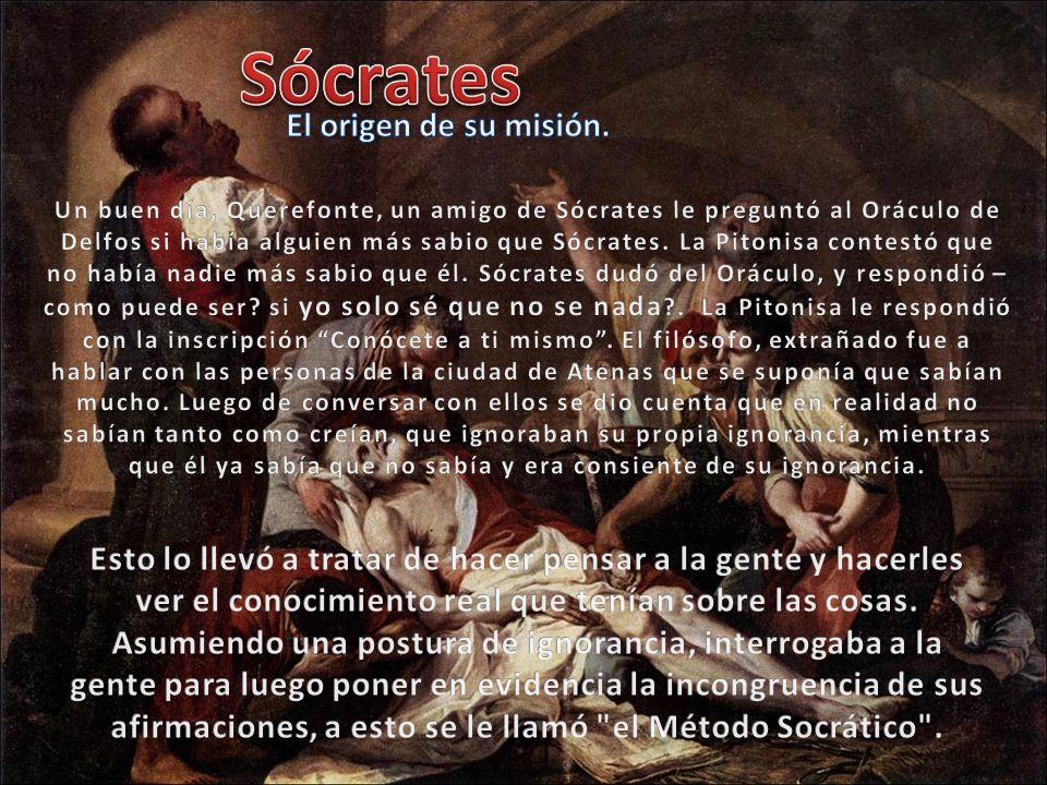 Sócrates El origen de su misión.