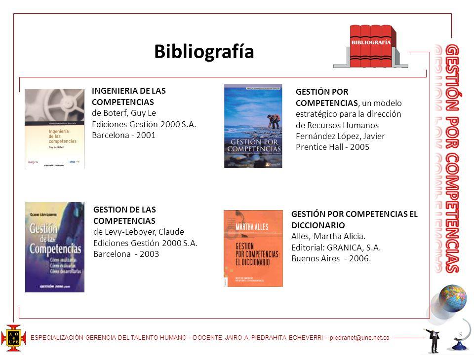 Bibliografía INGENIERIA DE LAS COMPETENCIAS de Boterf, Guy Le