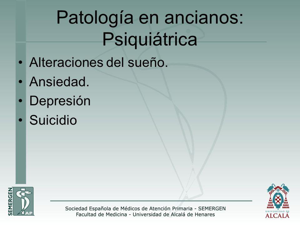 Patología en ancianos: Psiquiátrica