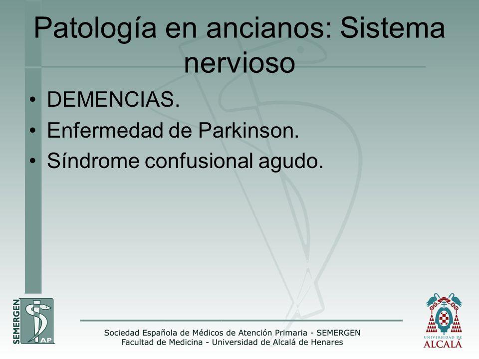 Patología en ancianos: Sistema nervioso