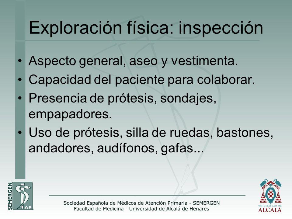 Exploración física: inspección