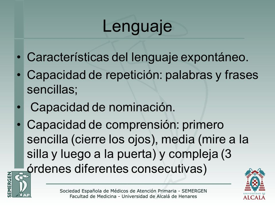 Lenguaje Características del lenguaje expontáneo.