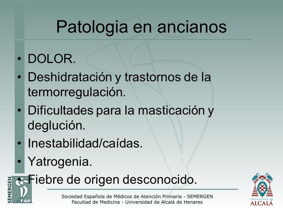 Patologia en ancianos DOLOR.
