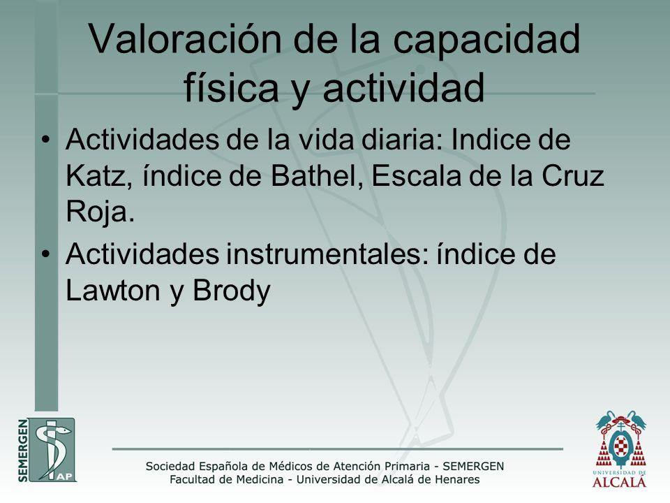 Valoración de la capacidad física y actividad