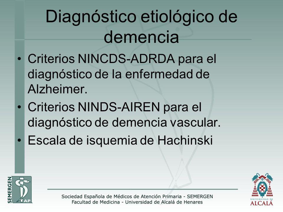 Diagnóstico etiológico de demencia