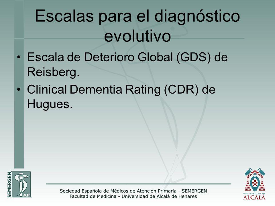 Escalas para el diagnóstico evolutivo
