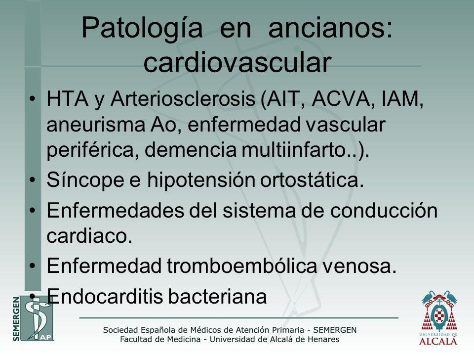 Patología en ancianos: cardiovascular