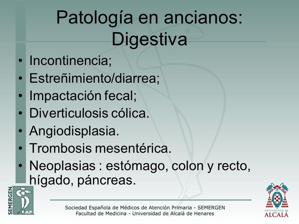Patología en ancianos: Digestiva