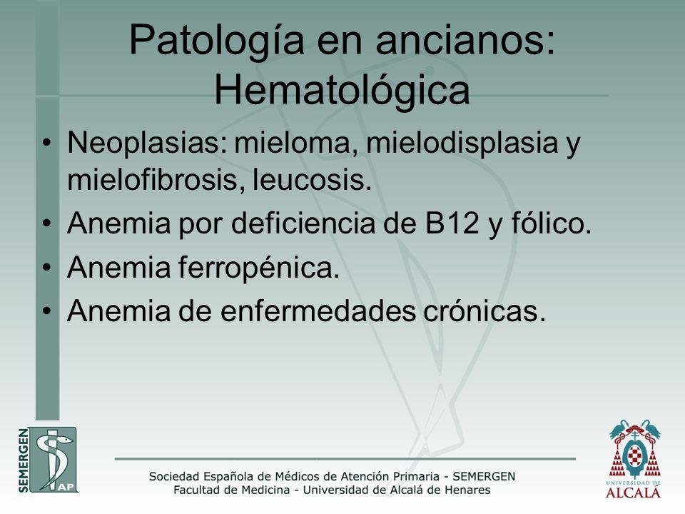 Patología en ancianos: Hematológica