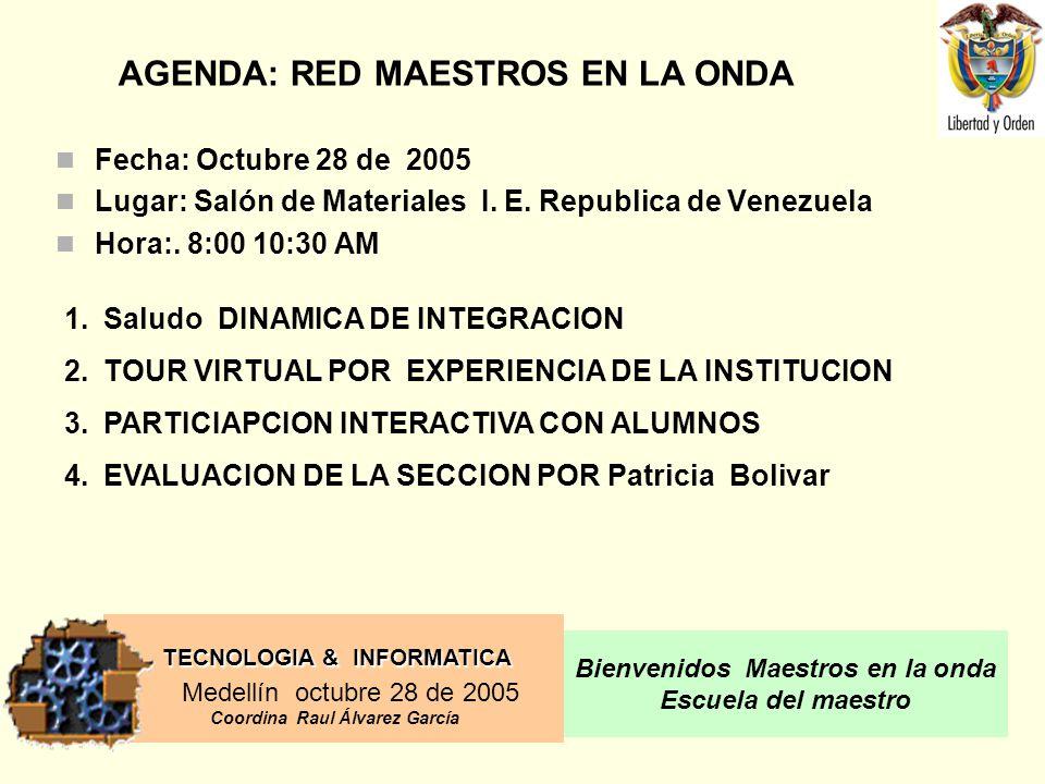 AGENDA: RED MAESTROS EN LA ONDA