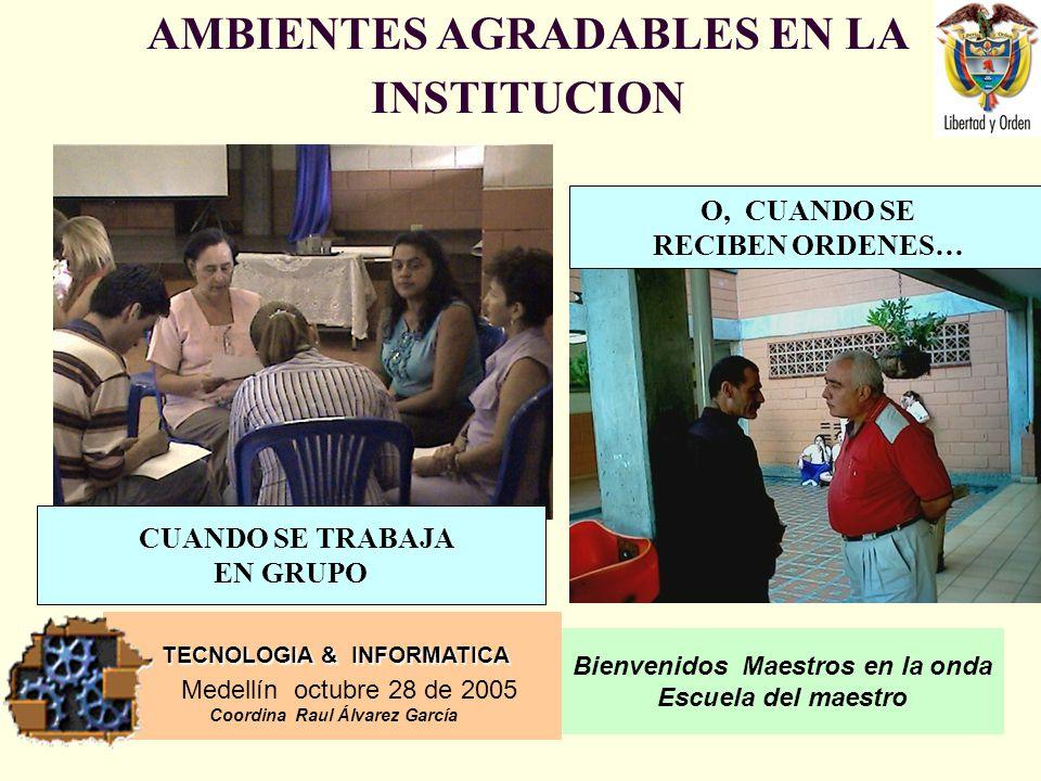 AMBIENTES AGRADABLES EN LA INSTITUCION