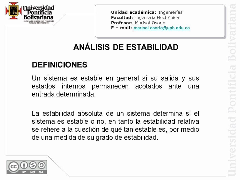 ANÁLISIS DE ESTABILIDAD