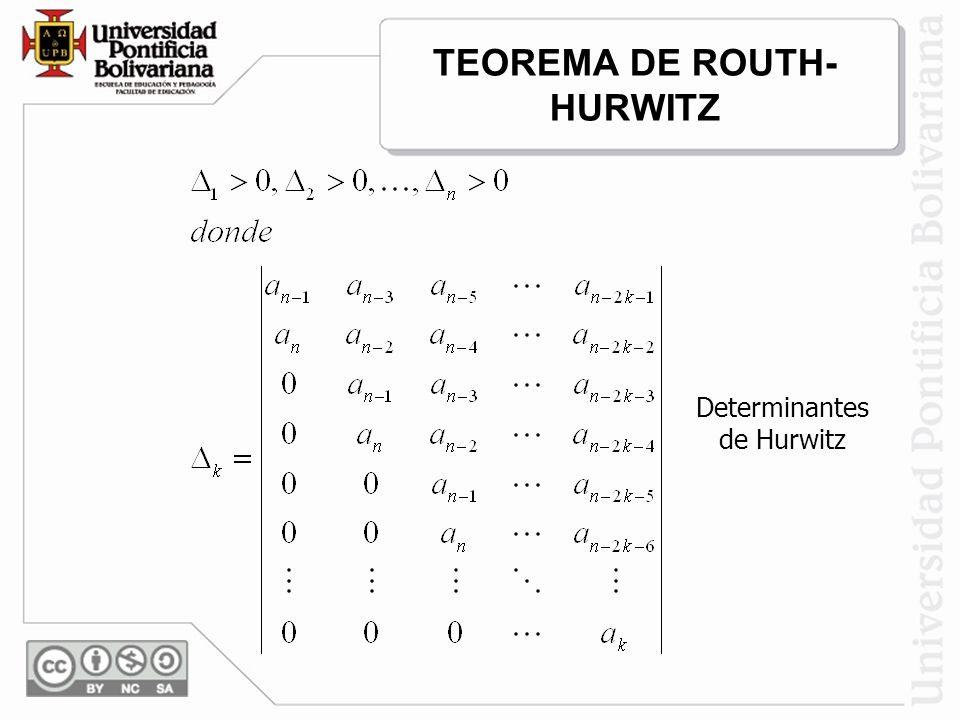 TEOREMA DE ROUTH-HURWITZ