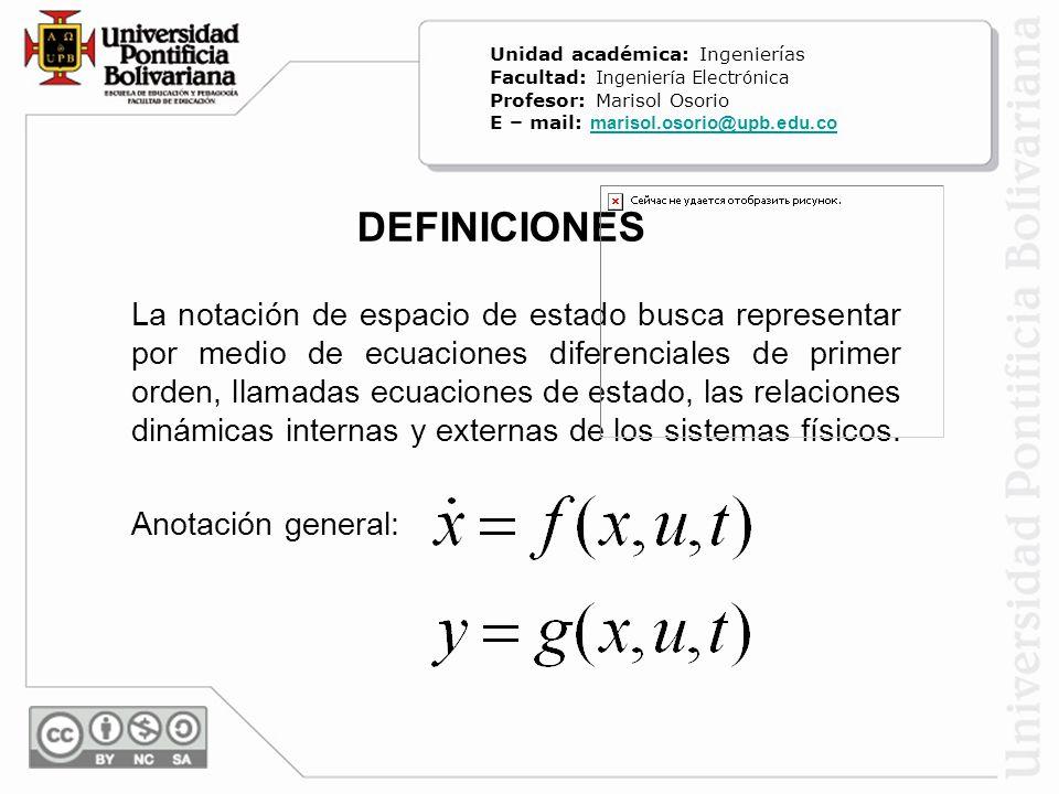 Unidad académica: Ingenierías