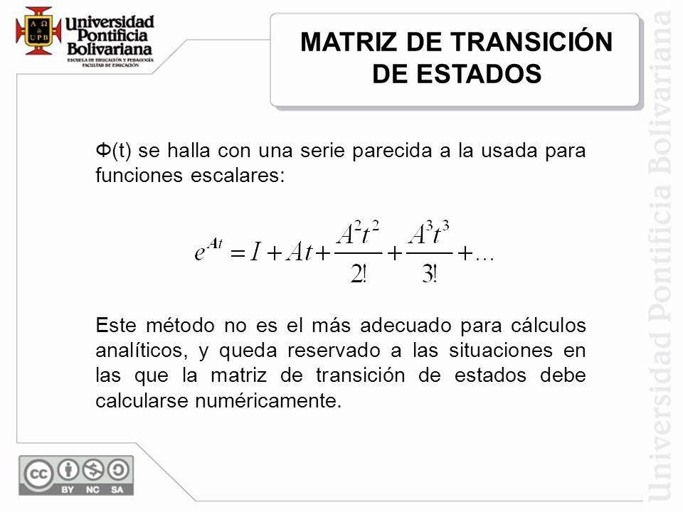 MATRIZ DE TRANSICIÓN DE ESTADOS