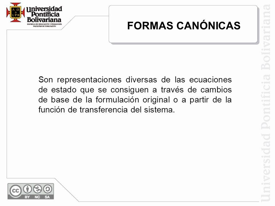FORMAS CANÓNICAS